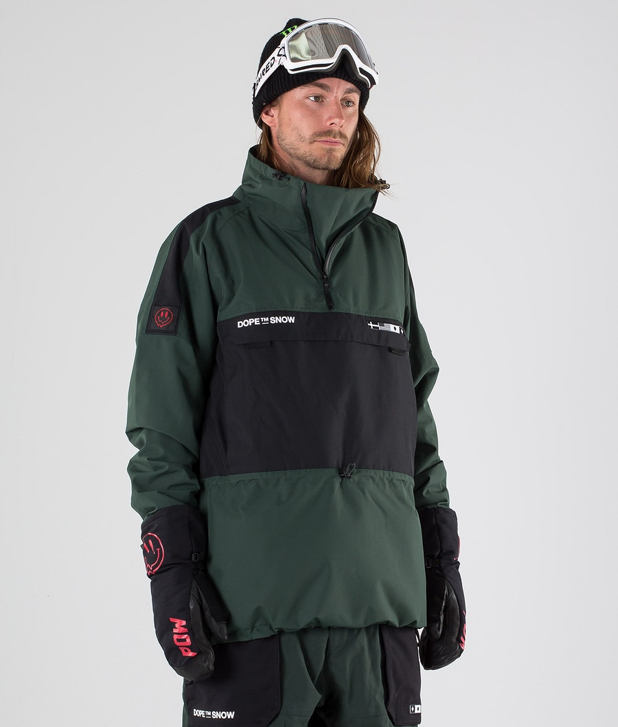 Dope KB Annok NH Snowboard Jacket Green Black