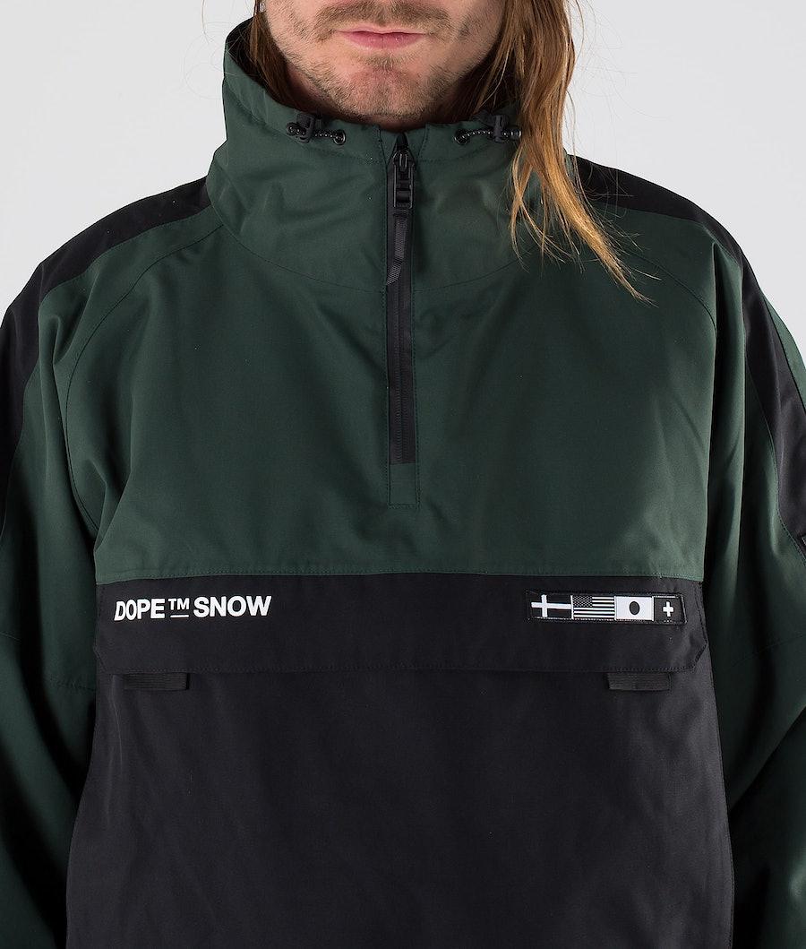 Dope KB Annok NH Snowboard Jacket Green Black
