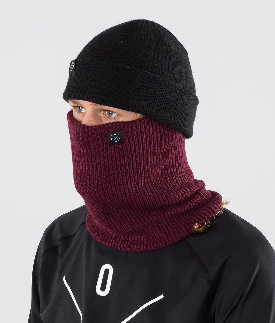 Dope 2X-UP Knitted Ansiktsmask Burgundy