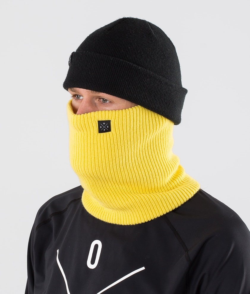 Dope 2X-UP Knitted Ansiktsmask Yellow