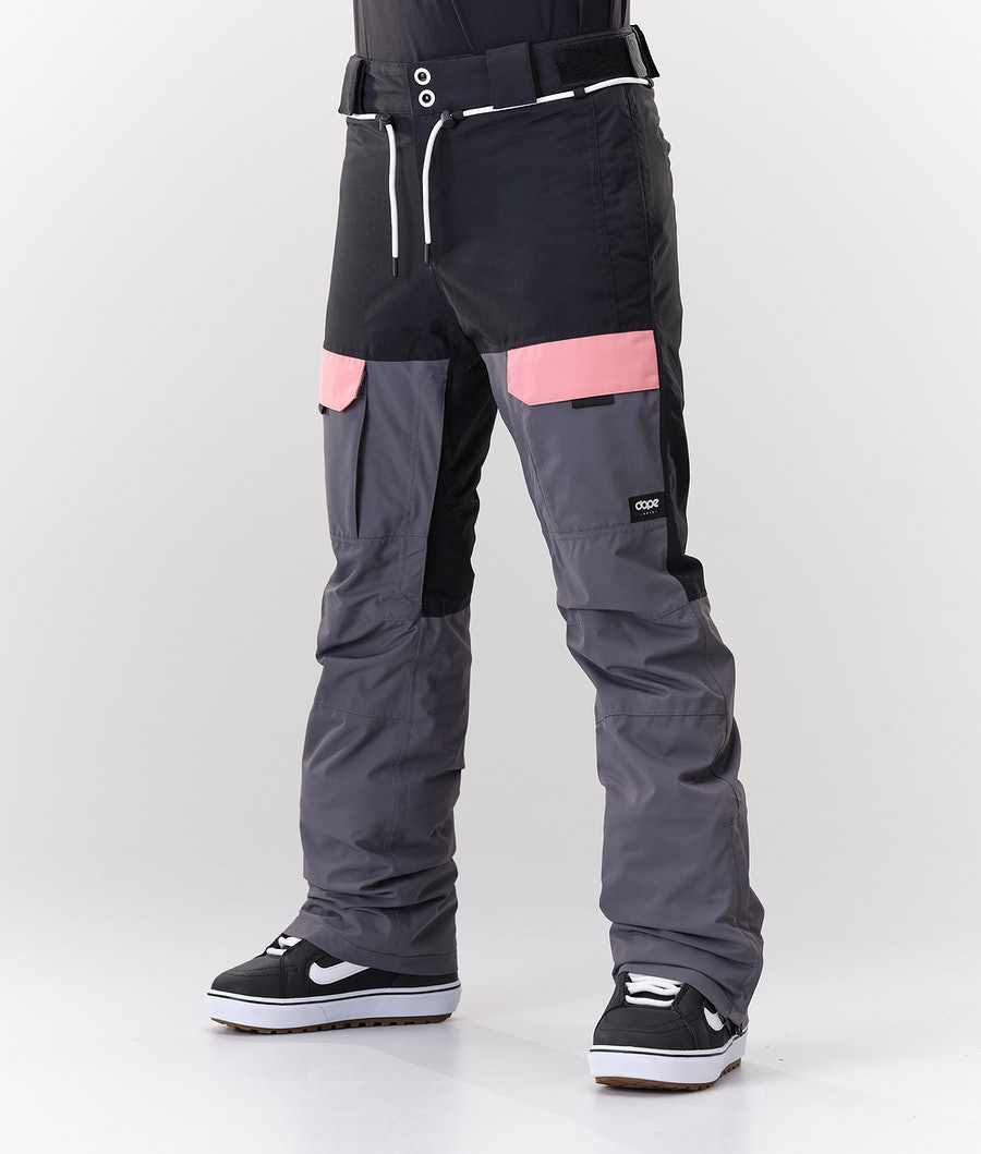 Dope Grace Women's Snow Pants Black Pink Pearl