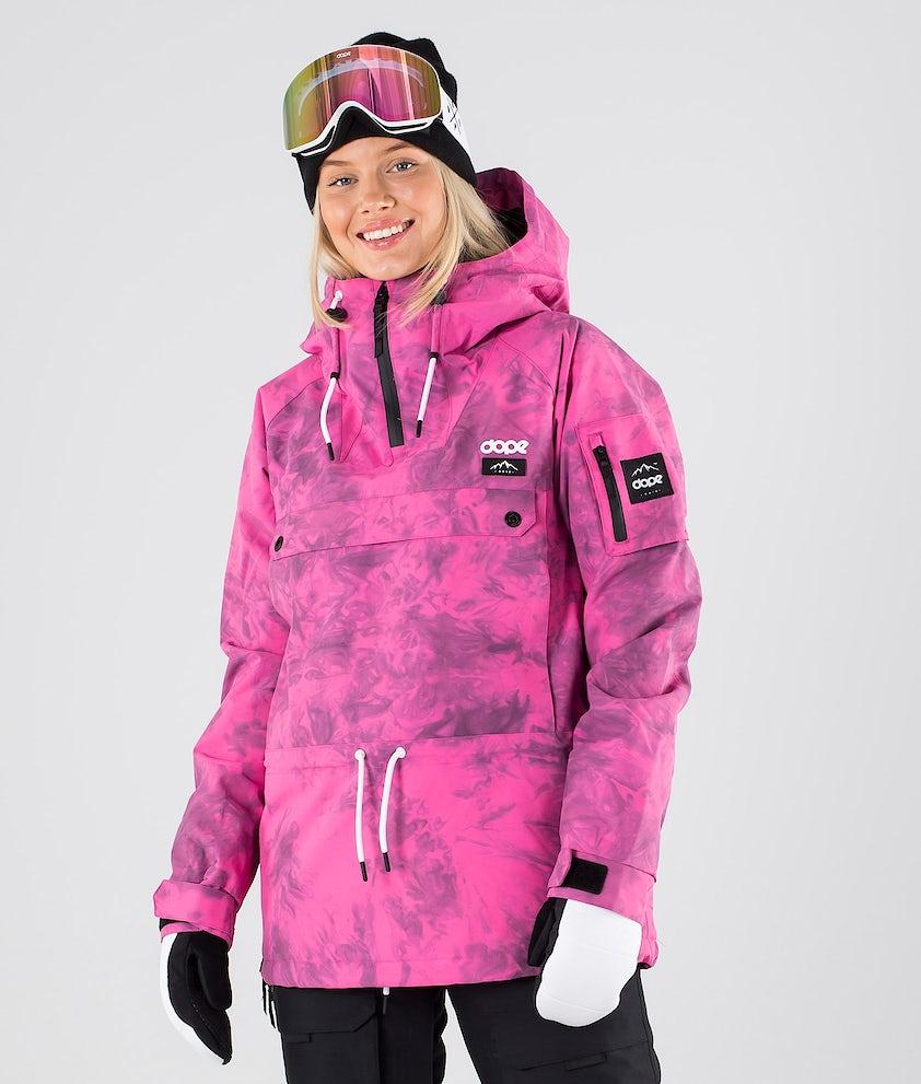 Dope Annok W Snowboardjakke Pink Tiedye