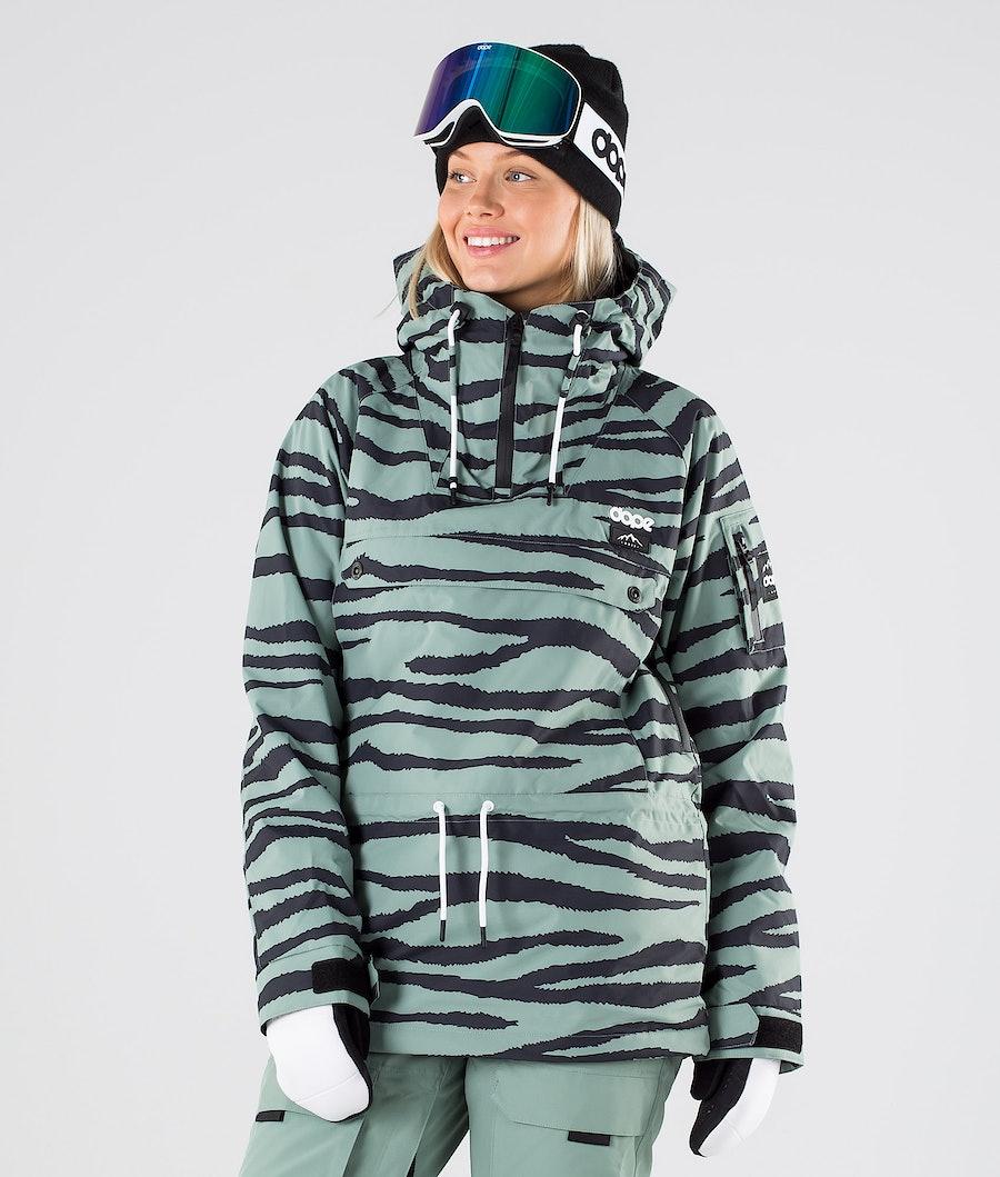 Dope Annok W Snowboard Jacket Green Zebra