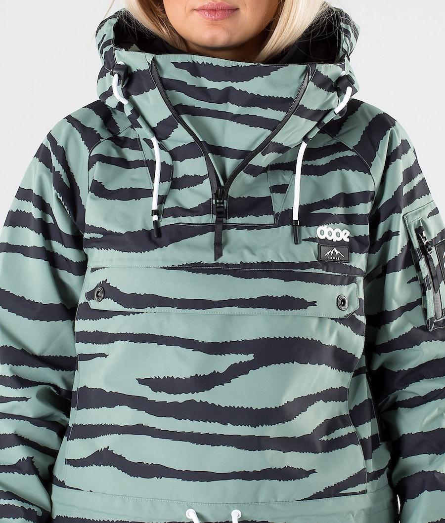 Dope Annok W Women's Snowboard Jacket Green Zebra