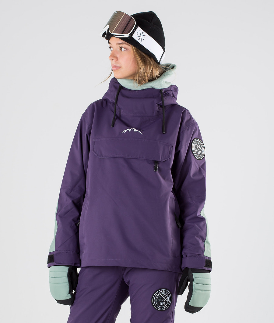 Dope Blizzard W LE Veste de Snowboard Grape Faded Green