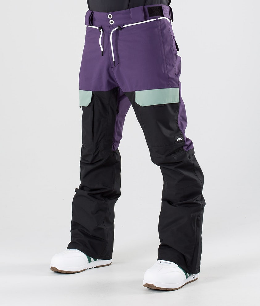 Dope Poise Snowboardbyxa Grape Faded Green Black