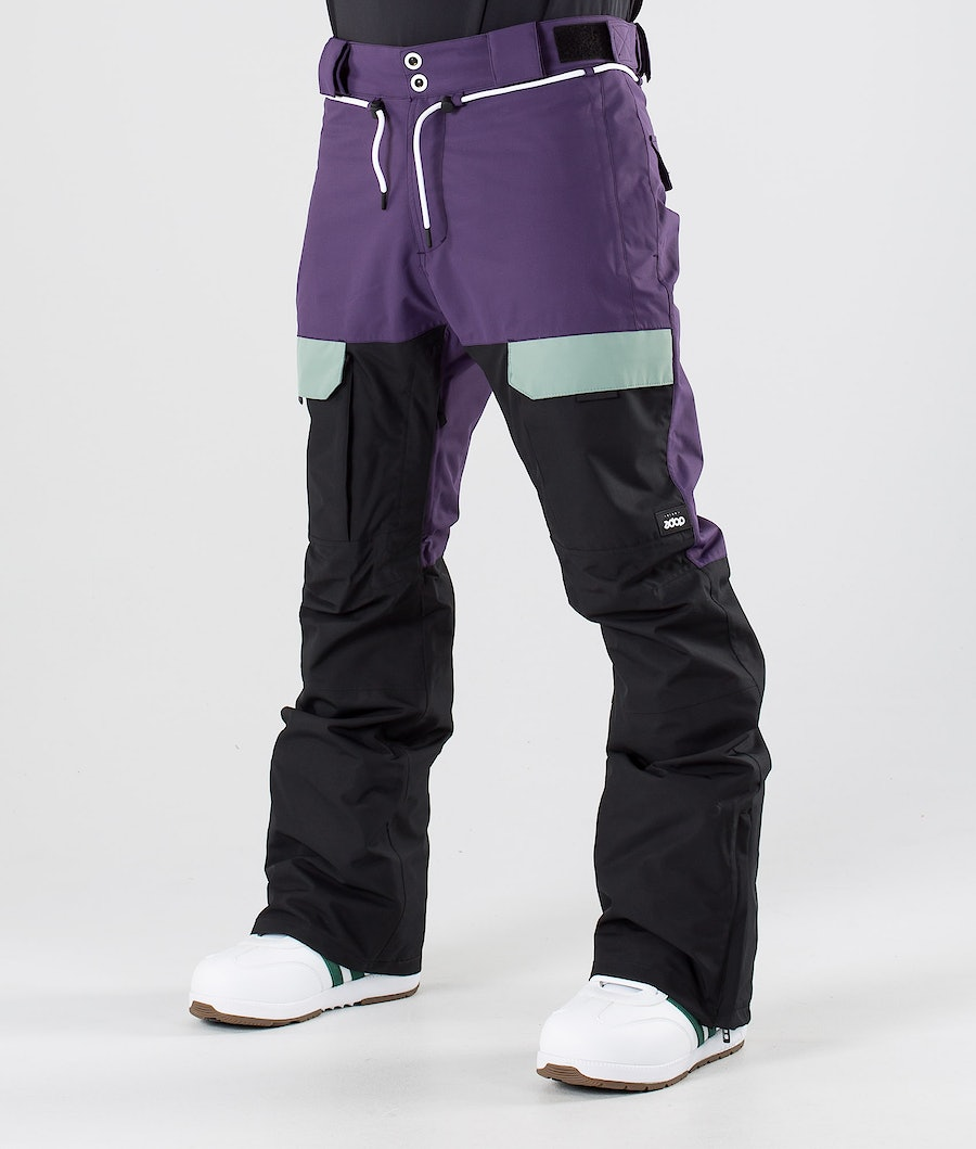 Dope Poise Snow Pants Grape Faded Green Black