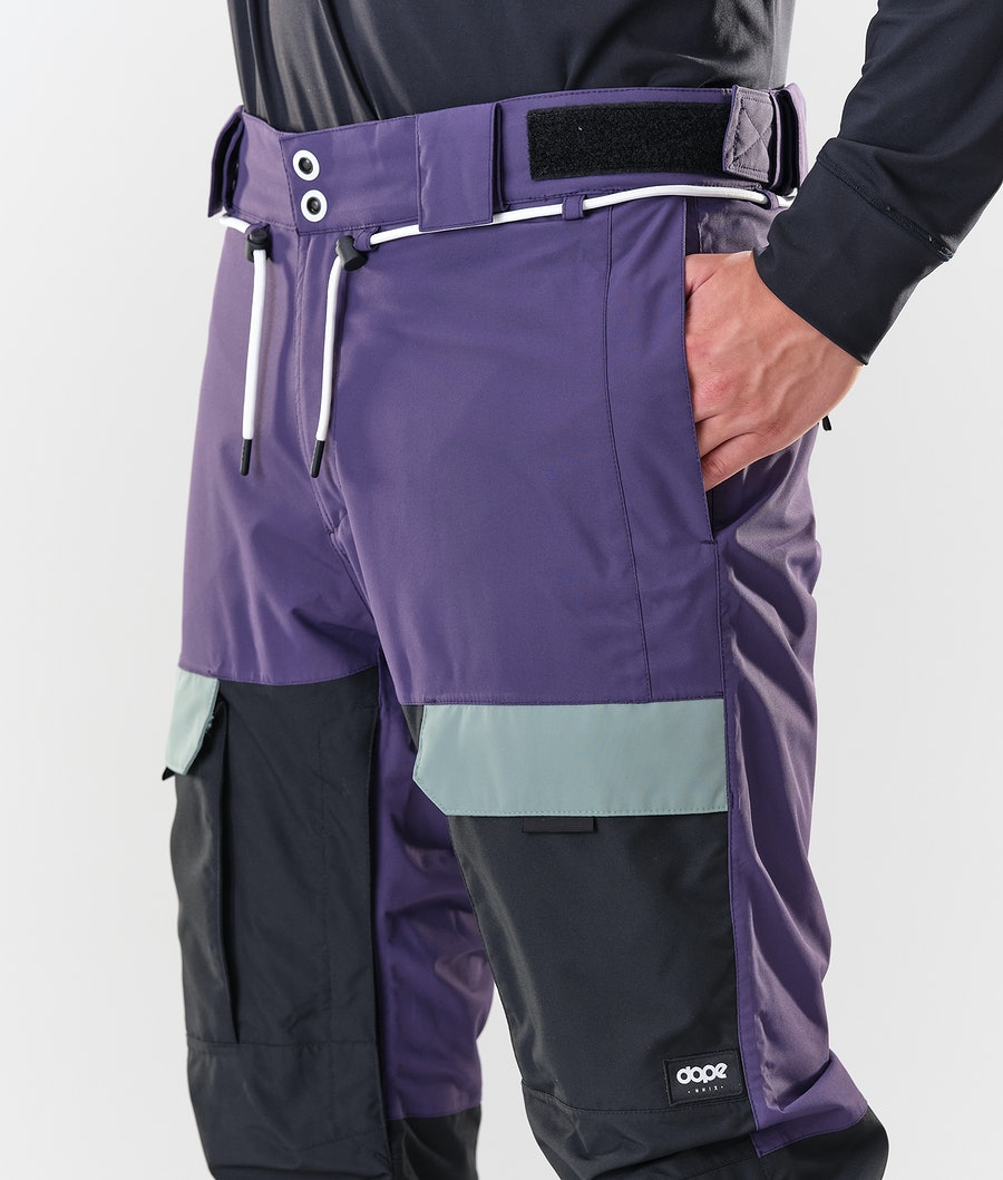 Dope Poise Snowboard Pants Grape Faded Green Black
