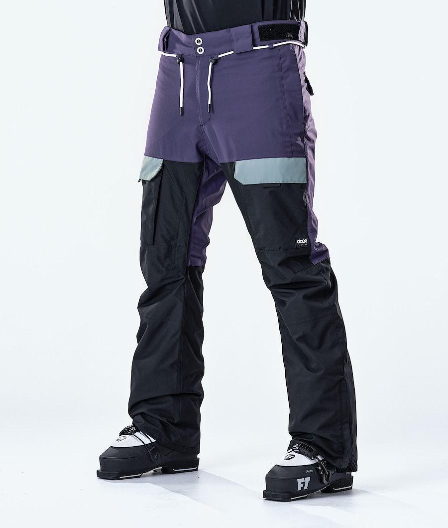 Dope Poise Ski Pants Grape Faded Green Black