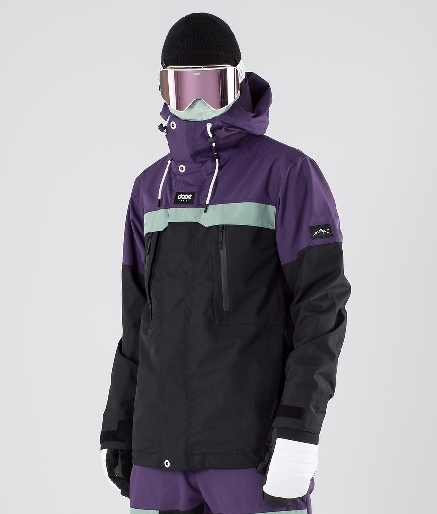 Dope Lunar Snowboard Jacket Grape Faded Green Black