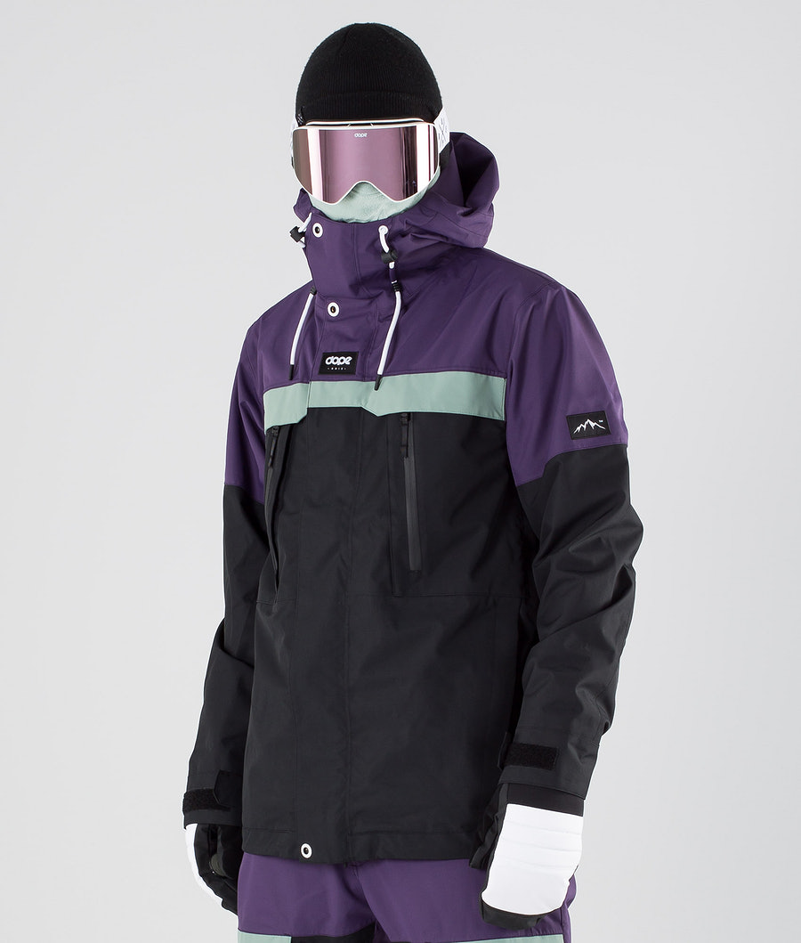 Dope Lunar Snowboardjacke Grape Faded Green Black