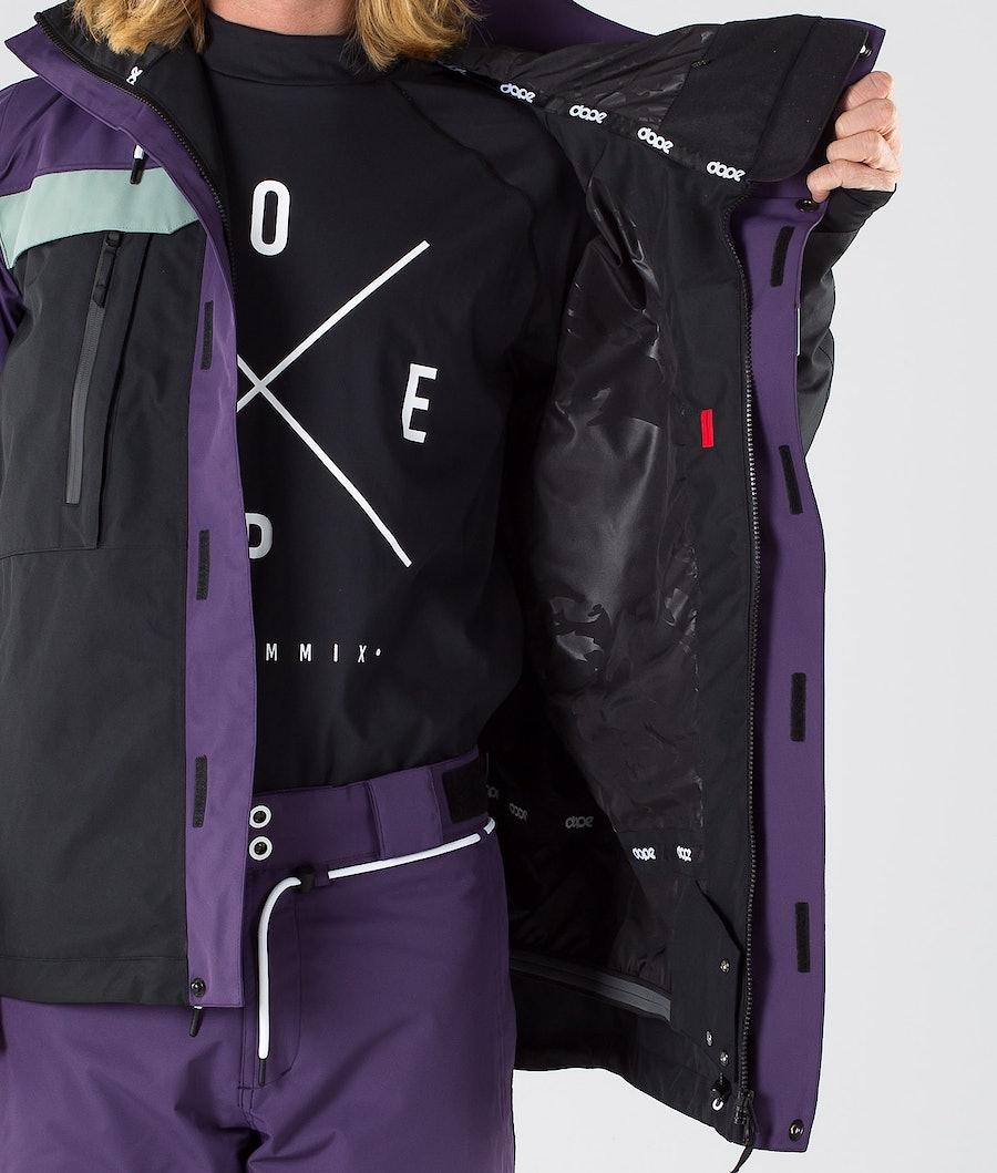 Dope Lunar Snowboard Jacket Grape Faded Green Black