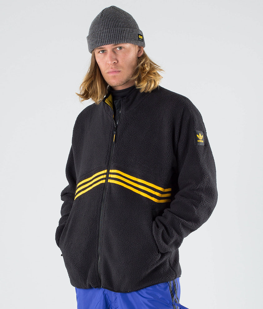 Adidas Skateboarding Sherpa Full Zip Jakke Black/Active Gold