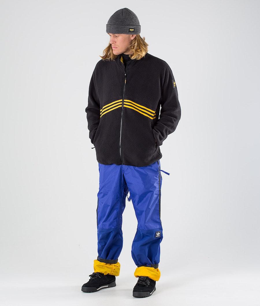 Adidas Skateboarding Sherpa Full Zip Jacka Black/Active Gold