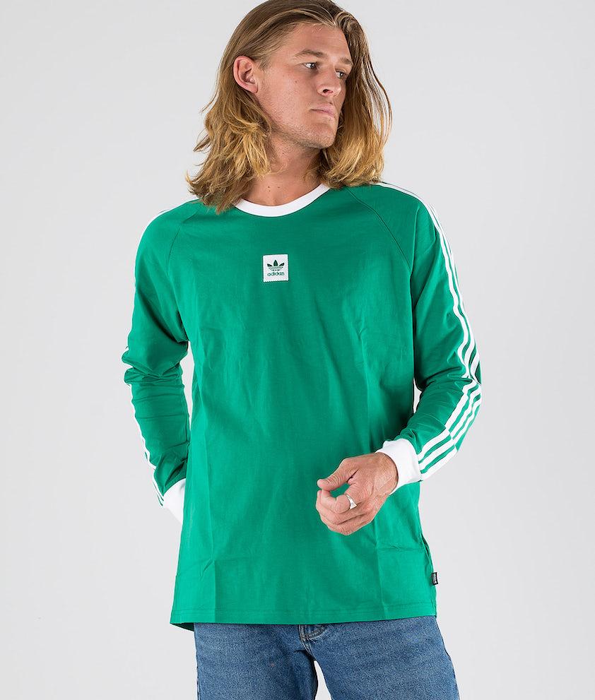 Adidas Skateboarding Ls Cali BB Tee T-shirt Base Green/White