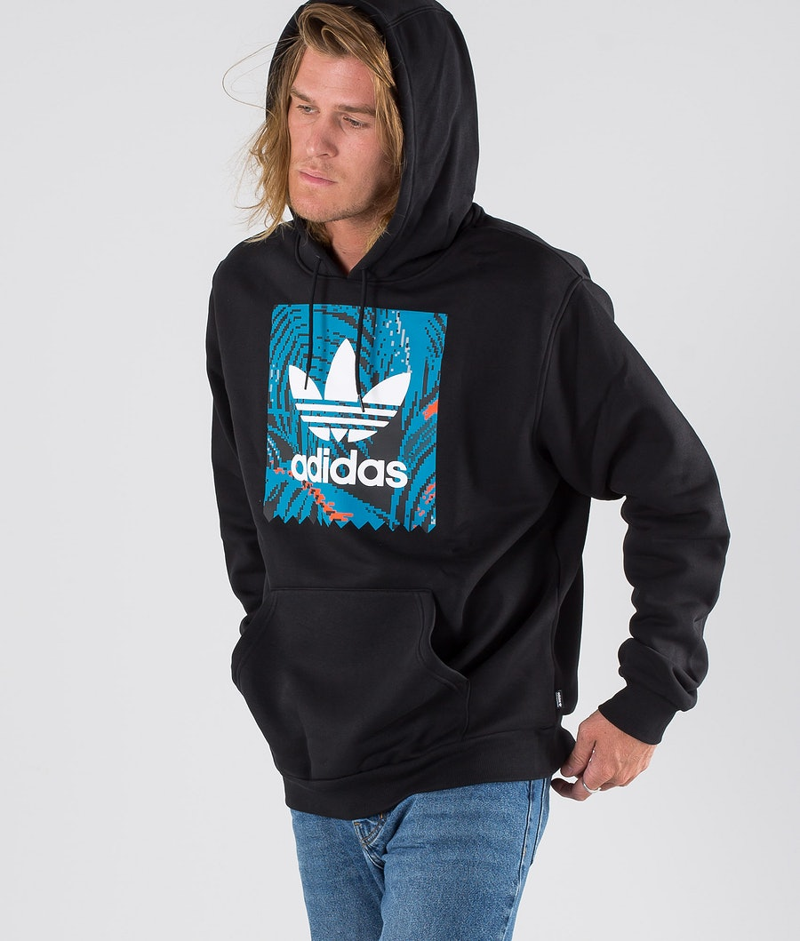 Adidas Skateboarding BB Print Hd Hood Black/Active Teal/Active Orange