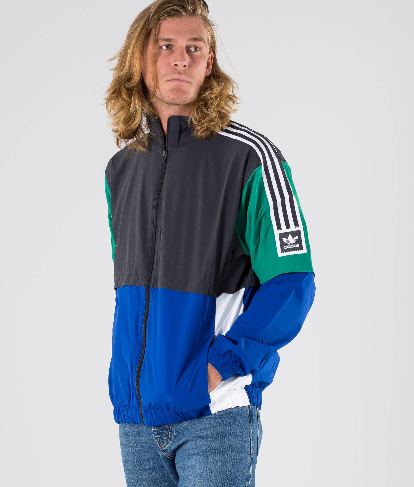 Adidas Skateboarding Standard 20 Jakke CarbonCollegiate RoyalBold GreenWhite