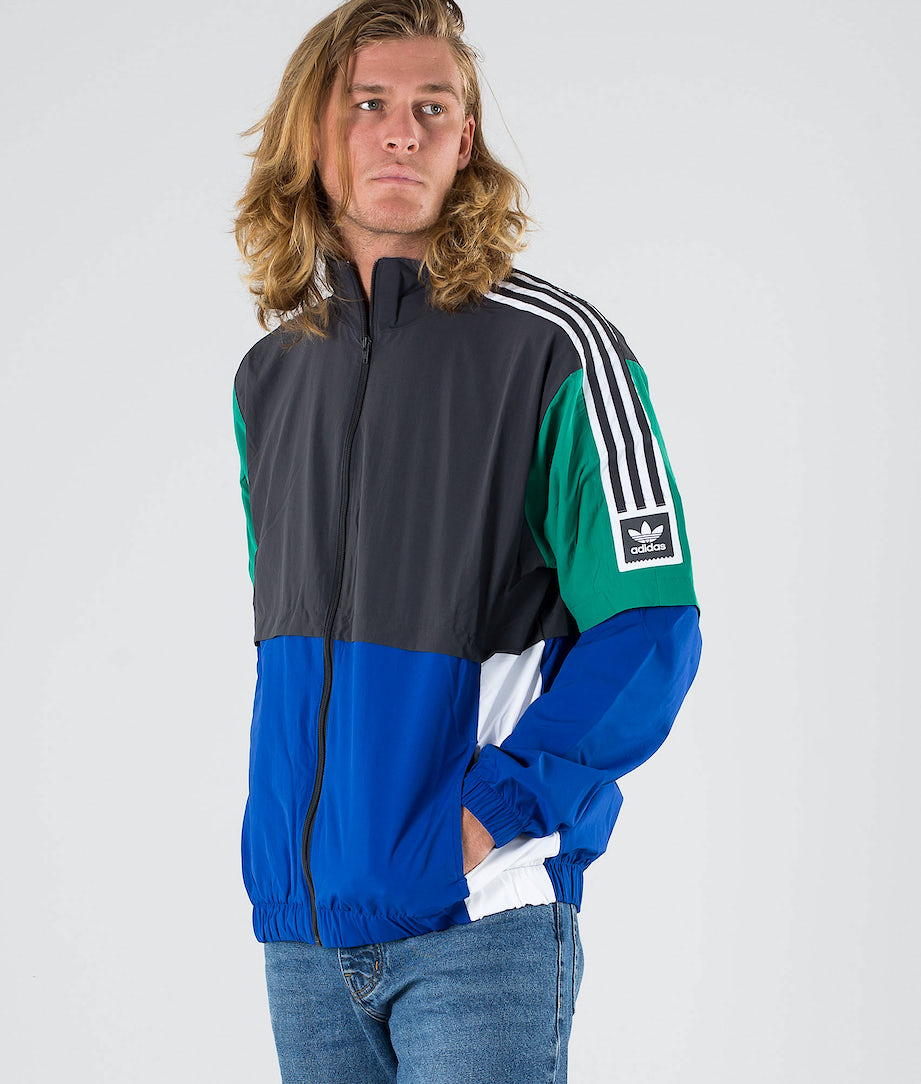 Adidas Skateboarding Standard 20 Jacke Carbon/Collegiate Royal/Bold Green/White