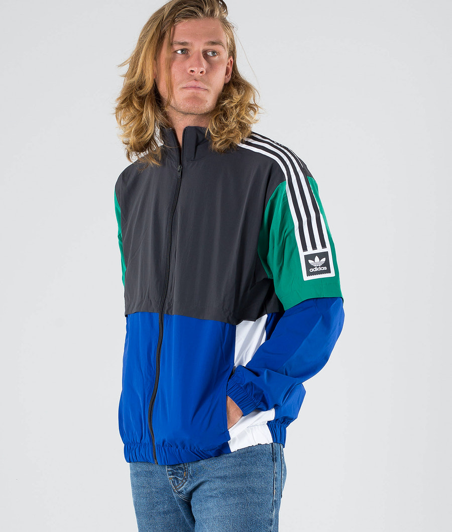 Adidas Skateboarding Standard 20 Jacka Carbon/Collegiate Royal/Bold Green/White