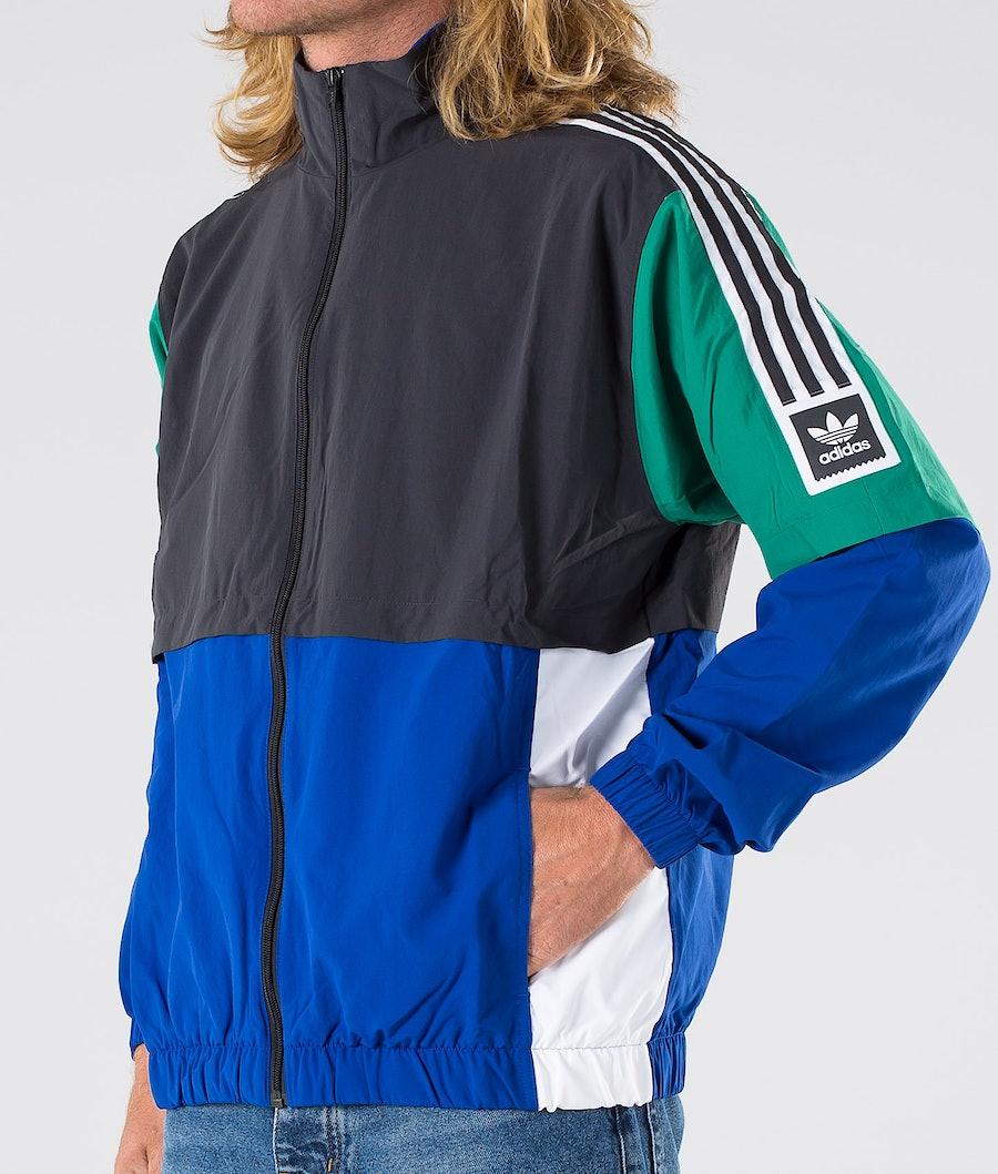 Adidas Skateboarding Standard 20 Jakke Carbon/Collegiate Royal/Bold Green/White