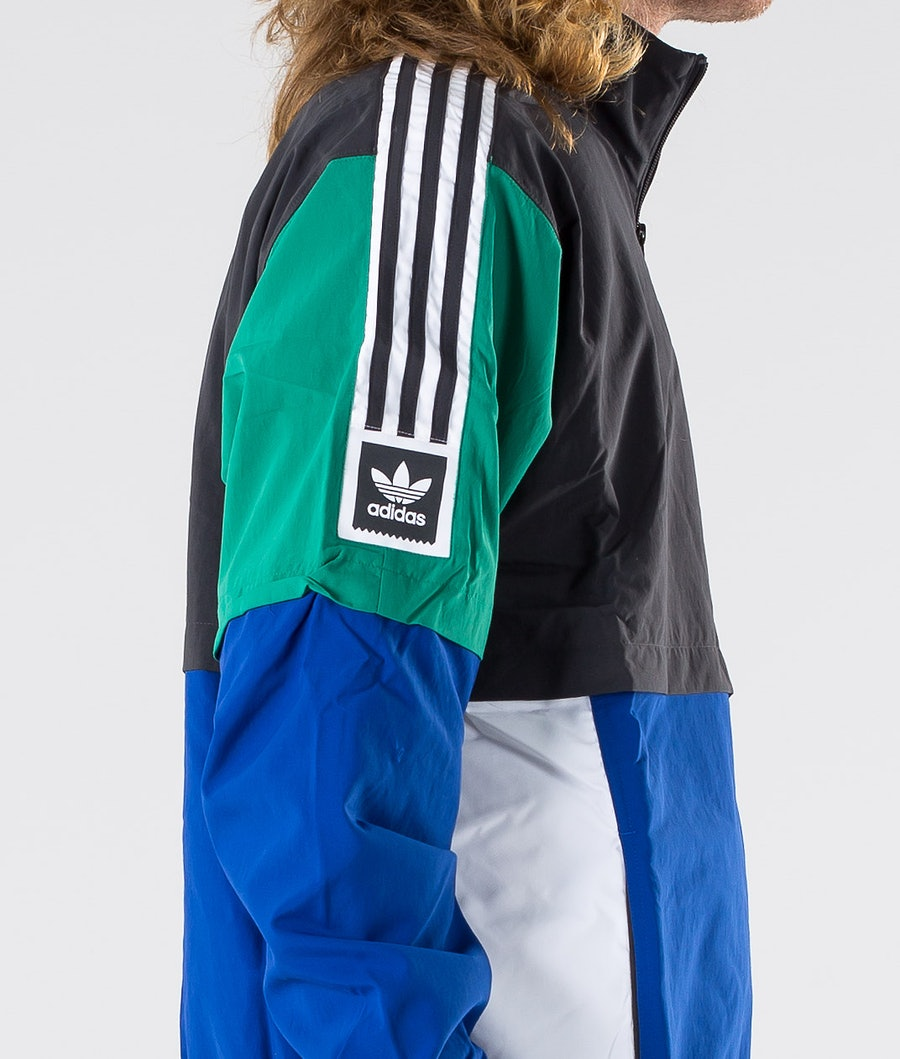 Adidas Skateboarding Standard 20 Jacka Carbon/Collegiate Royal/Bold Green/White