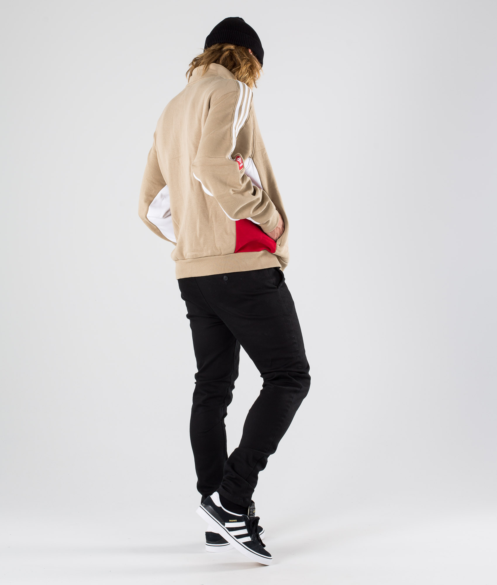 Adidas Skateboarding Modular Flc 2 Felpa HempWhitePower Red