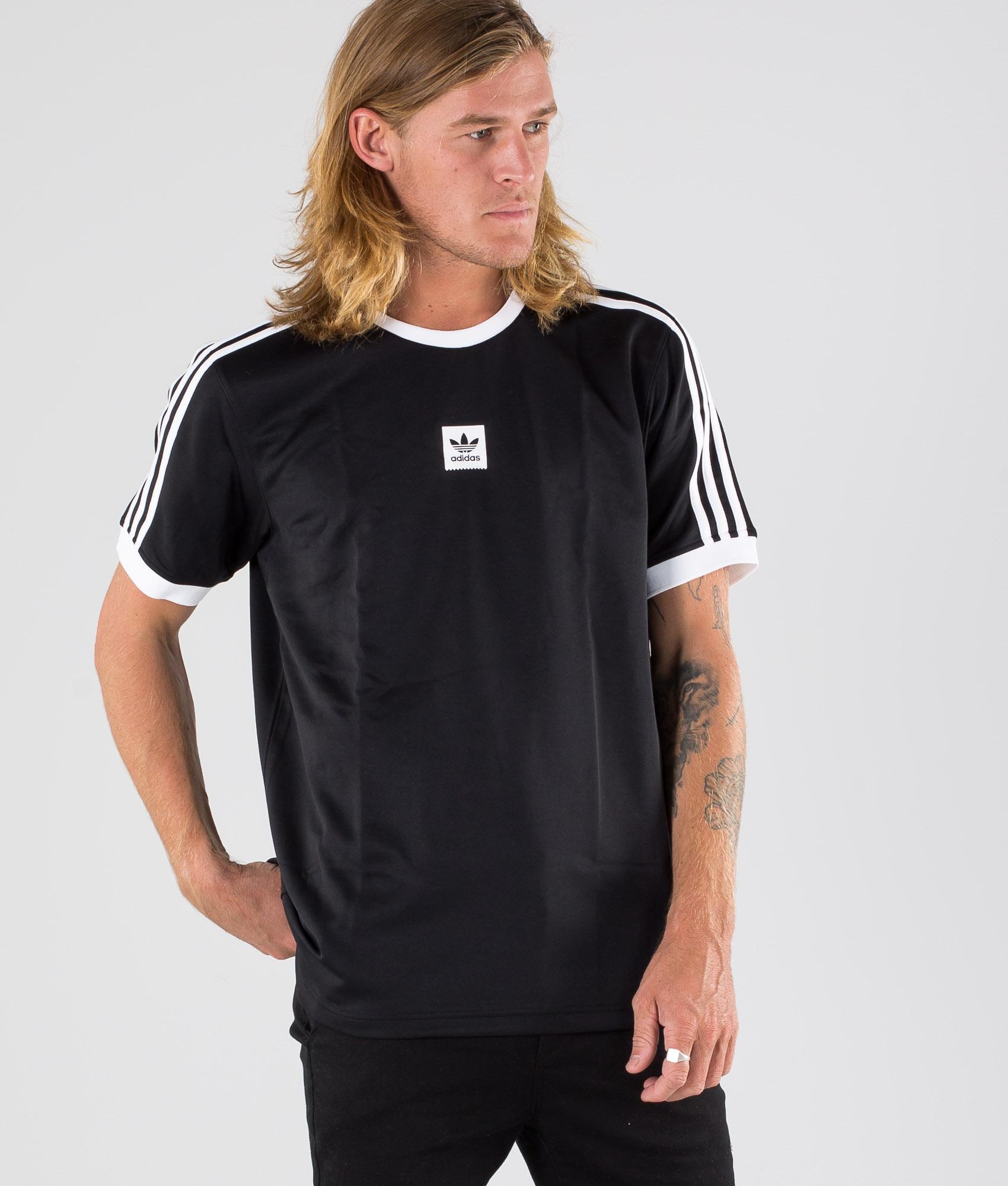 Adidas Skateboarding Club Jersey T shirt BlackWhite