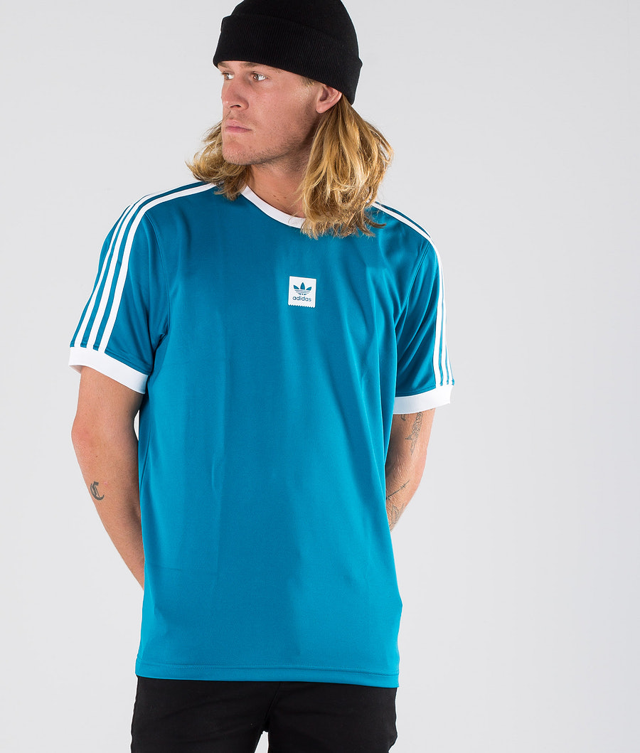 Adidas Skateboarding Club Jersey T-shirt Active Teal/White