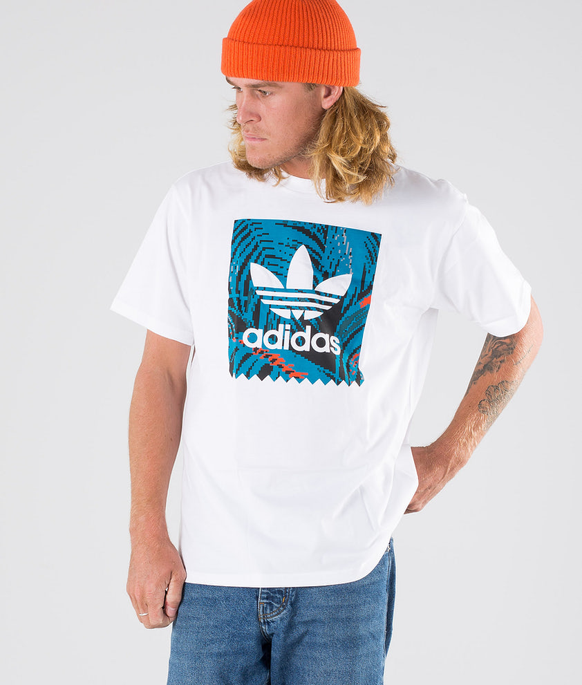 Adidas Skateboarding BB Print Tee 2 T-shirt White/Active Teal/Active Orange