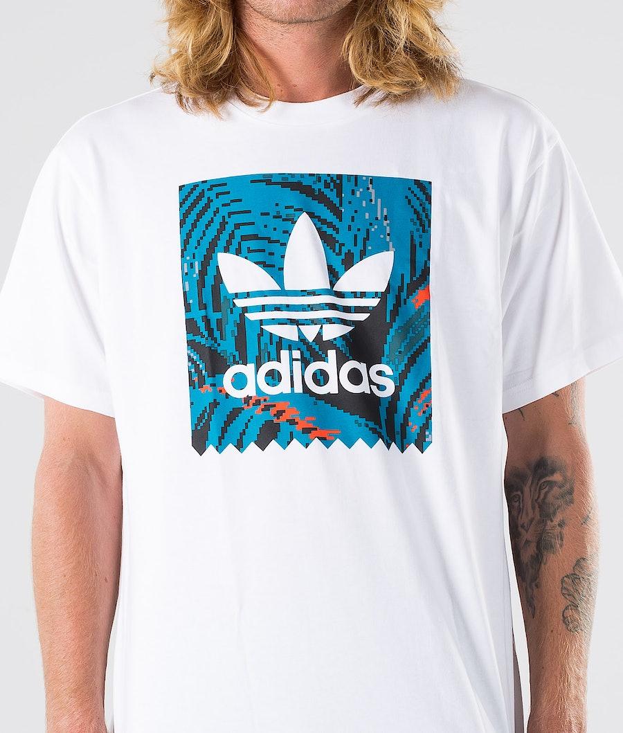 Adidas Skateboarding BB Print Tee 2 T-shirt White/Active Teal/Active Orange