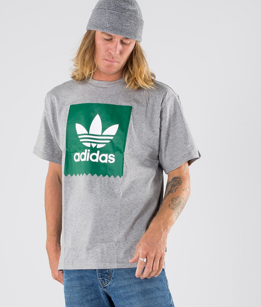 Adidas Skateboarding Solid BB T T-shirt Core Heather/Bold Green