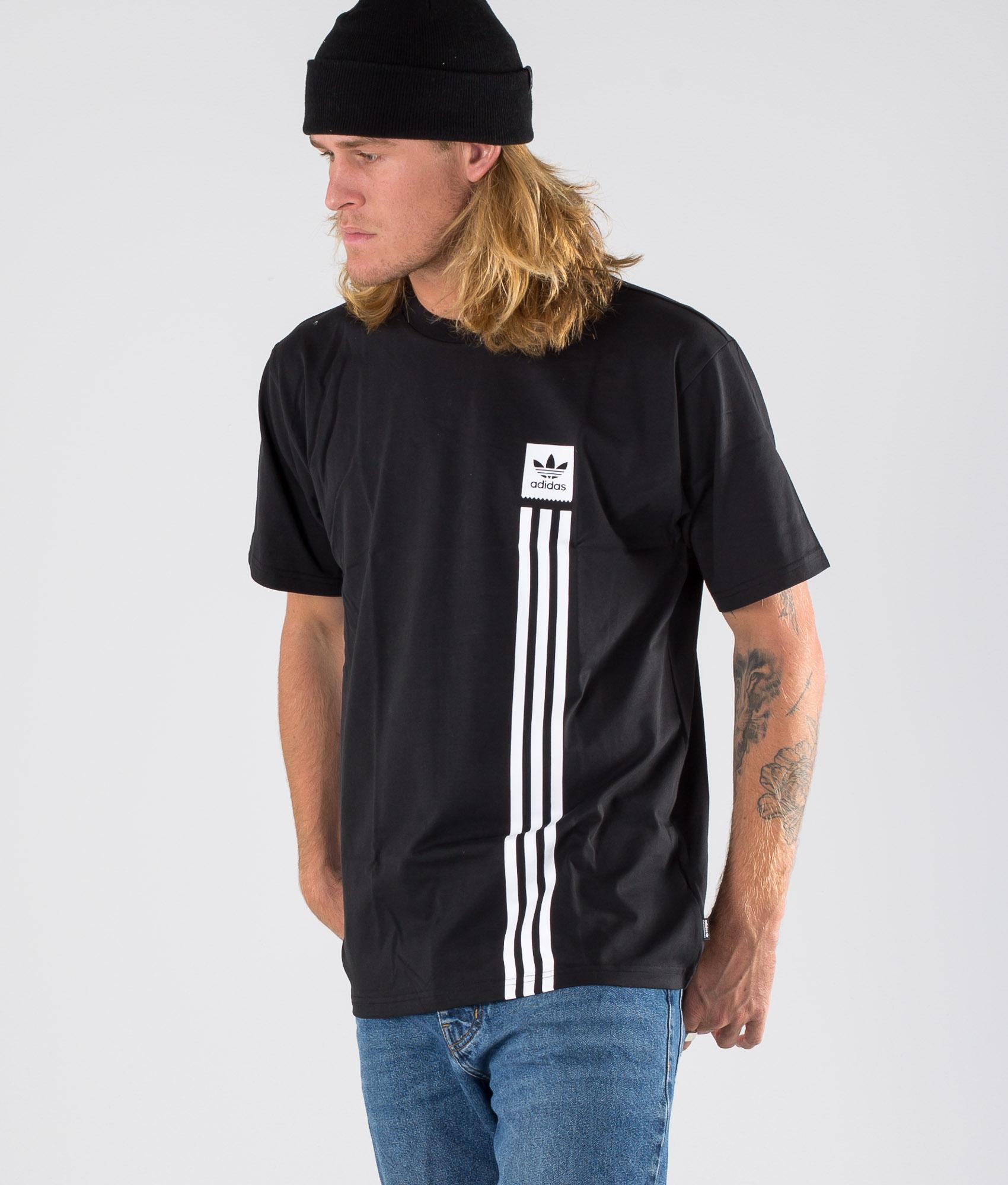 Adidas Skateboarding BB Pillar Tee T shirt BlackWhite