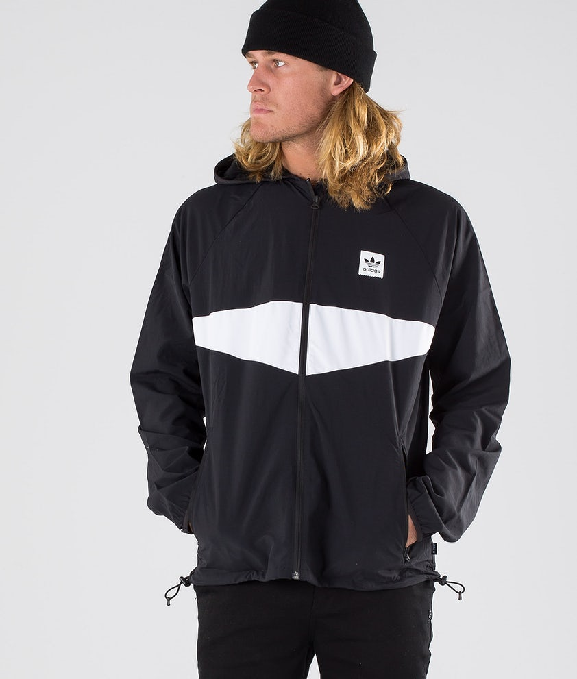 Adidas Skateboarding Dekum Packable Wind Jacke Black/White