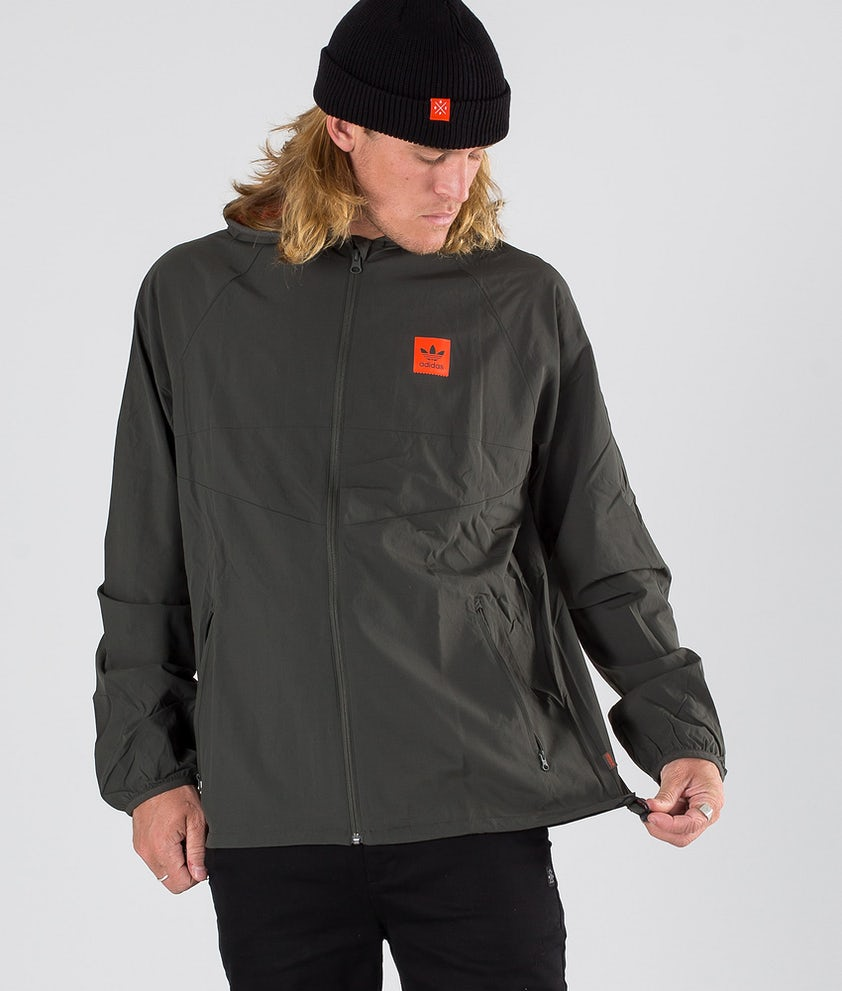Adidas Skateboarding Dekum Packable Wind Jacke Legend Earth/Active Orange