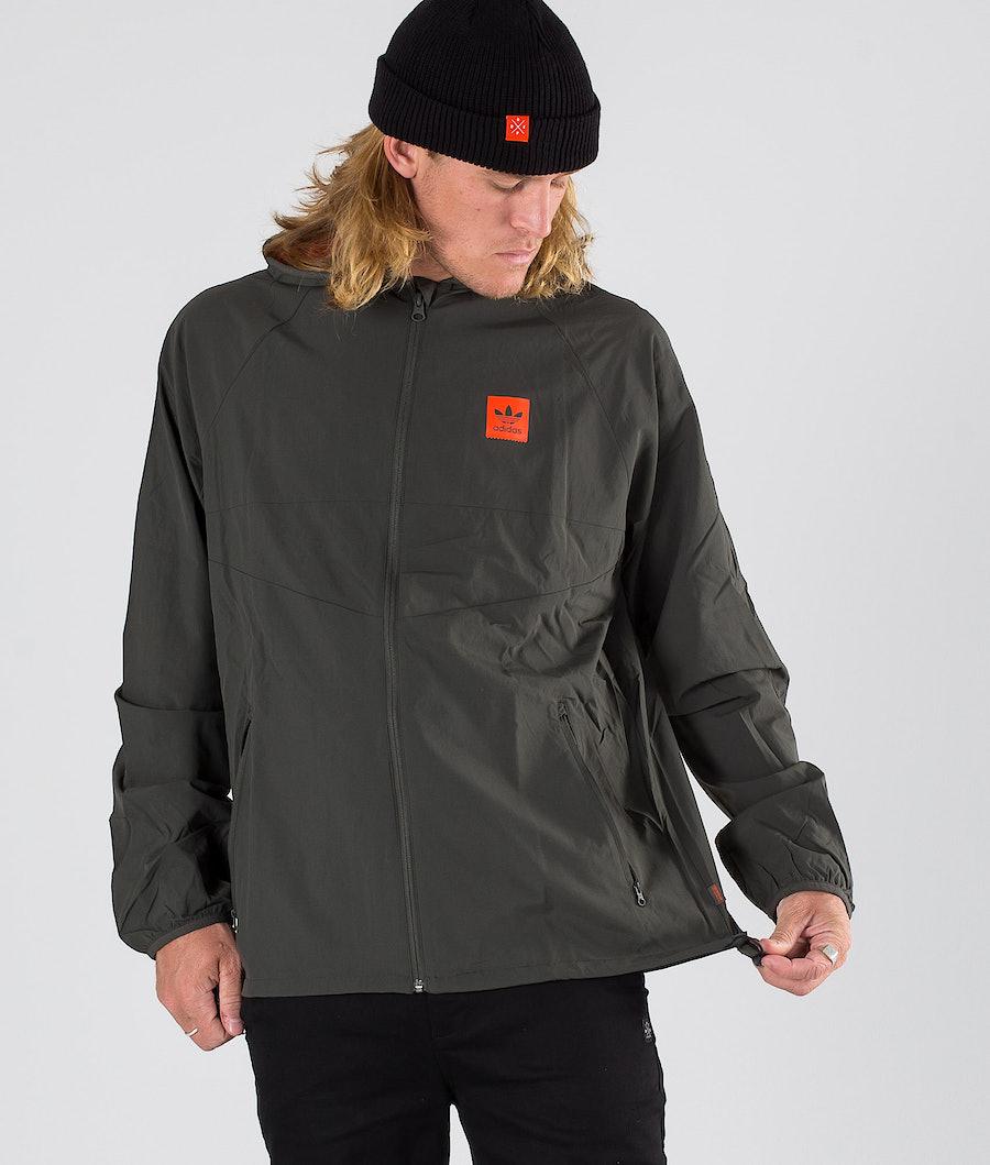 Adidas Skateboarding Dekum Packable Wind Jacket Legend Earth/Active Orange