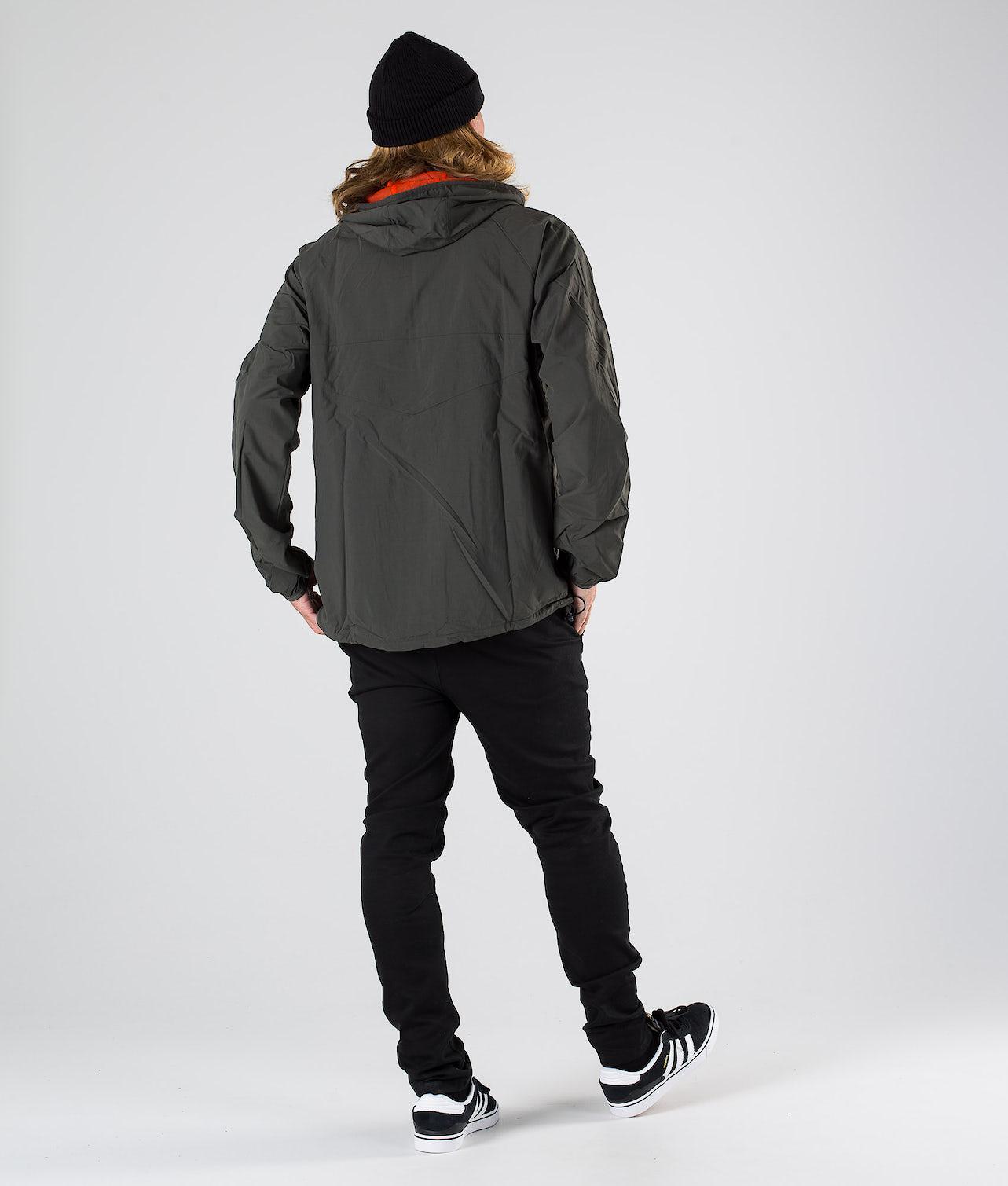 Adidas Skateboarding Dekum Packable Wind Jakke Legend Earth/Active Orange