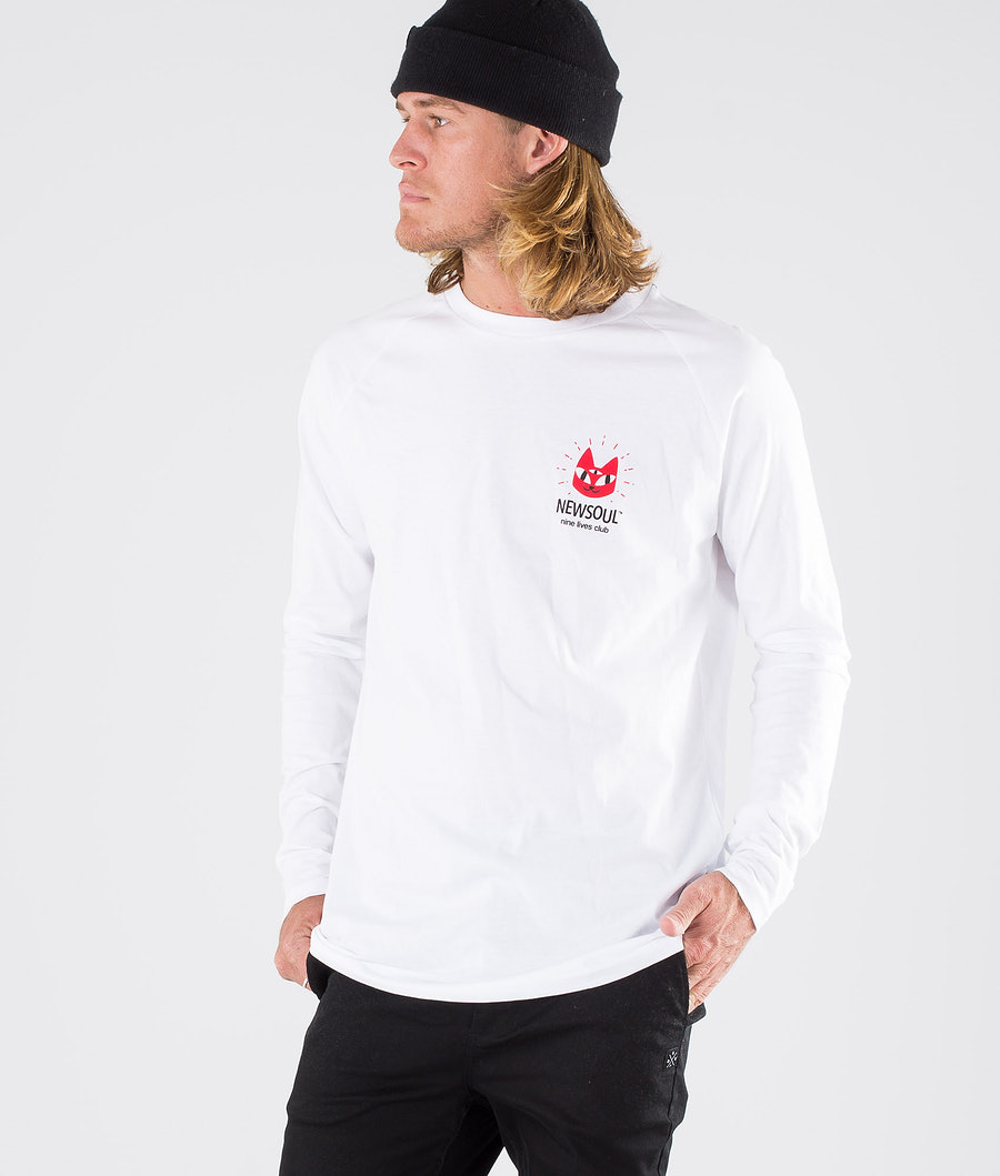 Newsoul Cat Longsleeve White