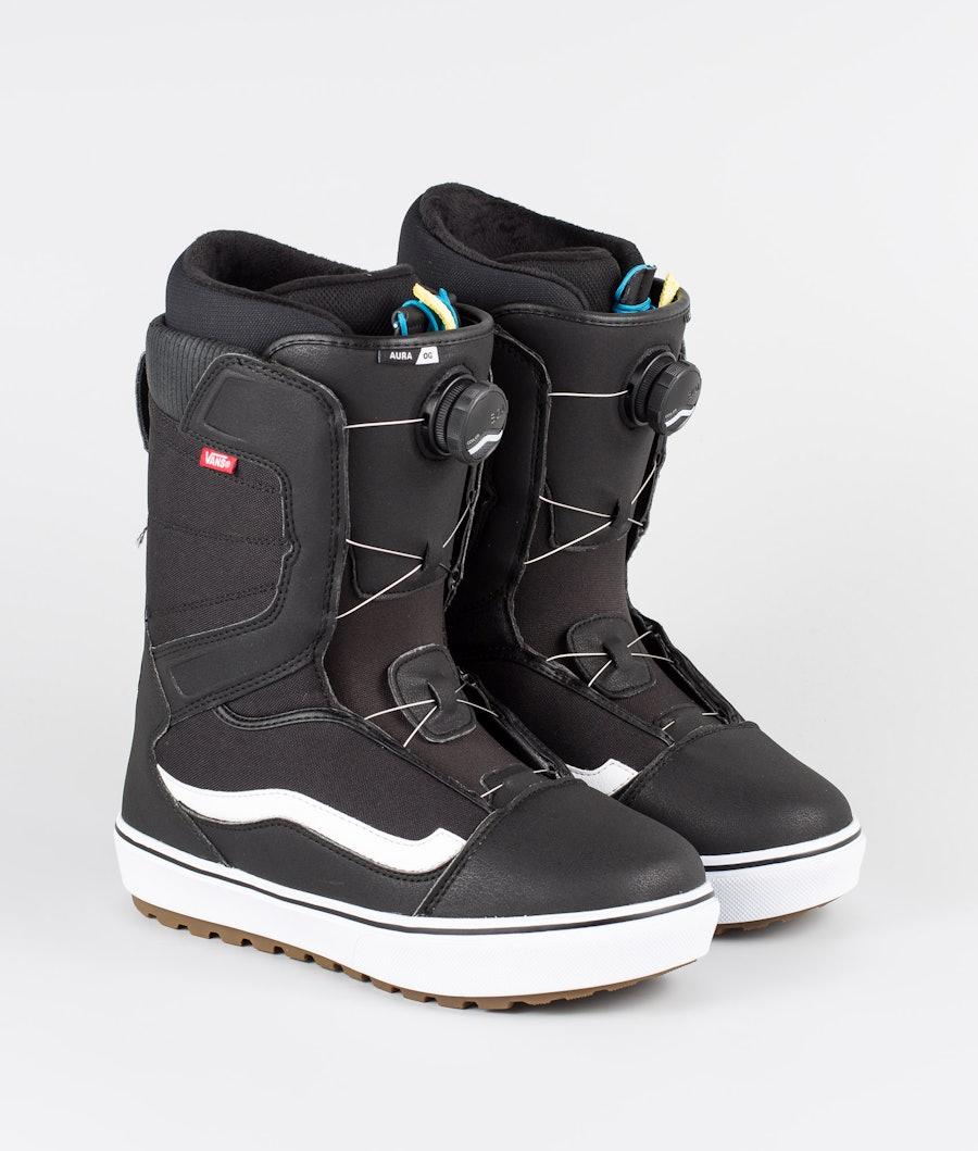 Vans Aura OG Snowboard Boots Black/White 19