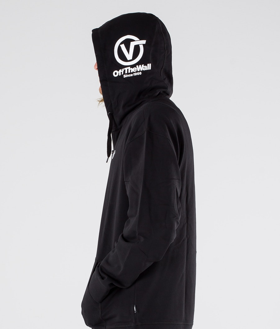 Vans Distorted Oversized Half Zip Hood Black