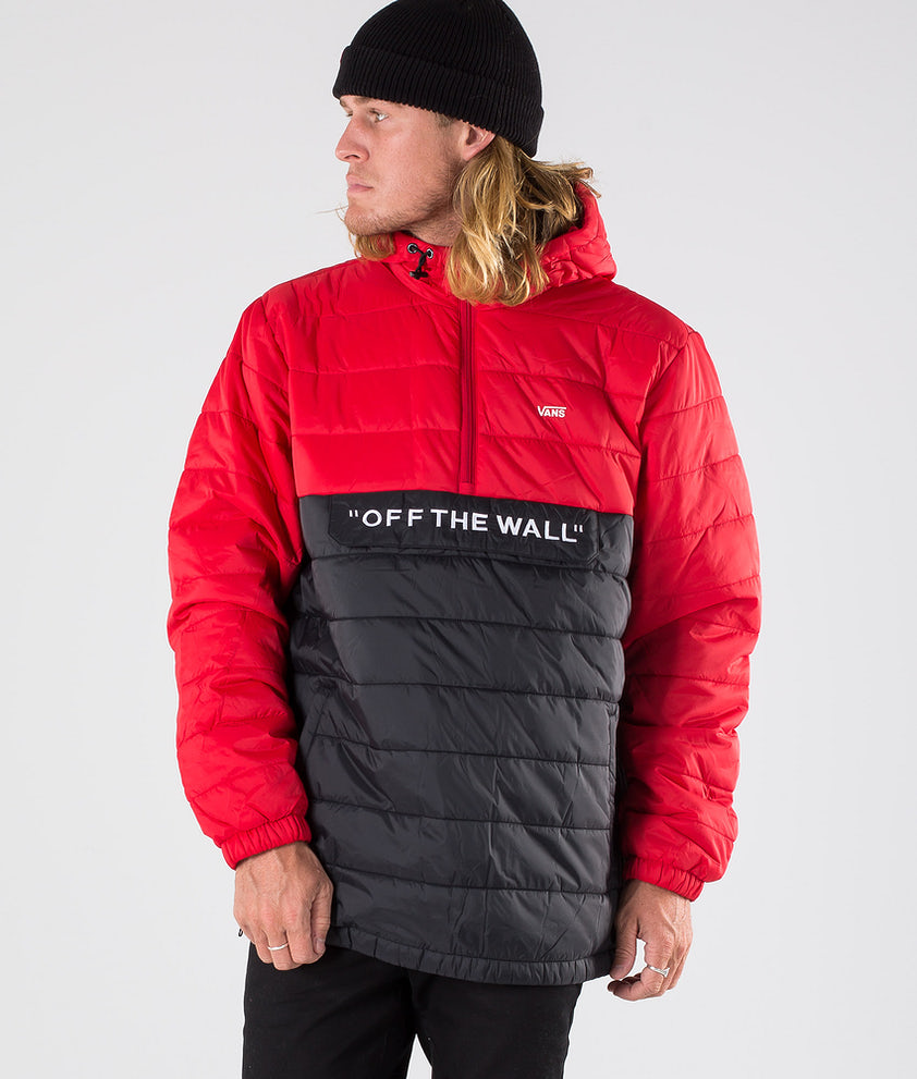Vans Carlon Anorak Puffer Jacka Racing Red/Black