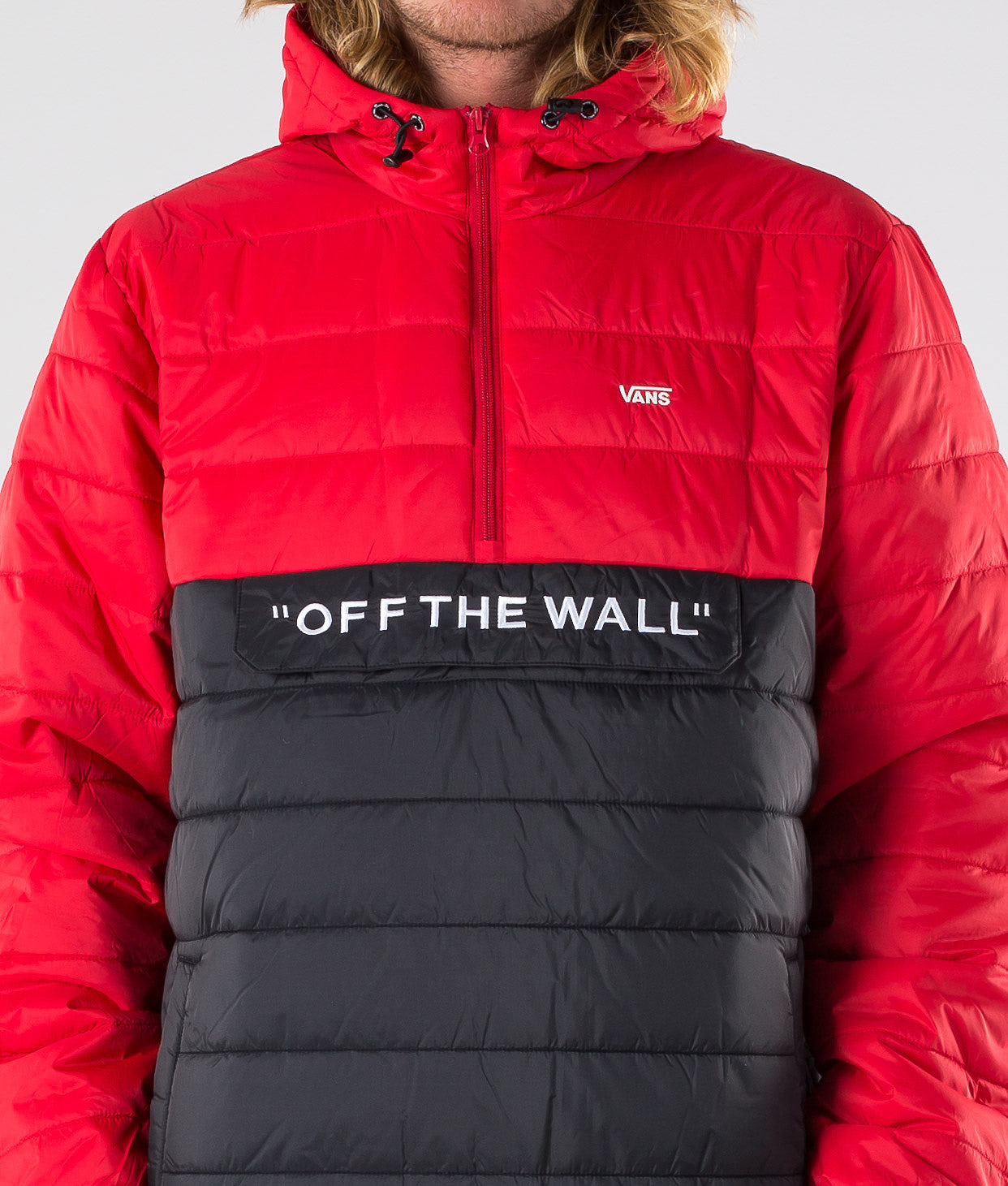 Vans Carlon Anorak Puffer Jakke Racing Red/Black
