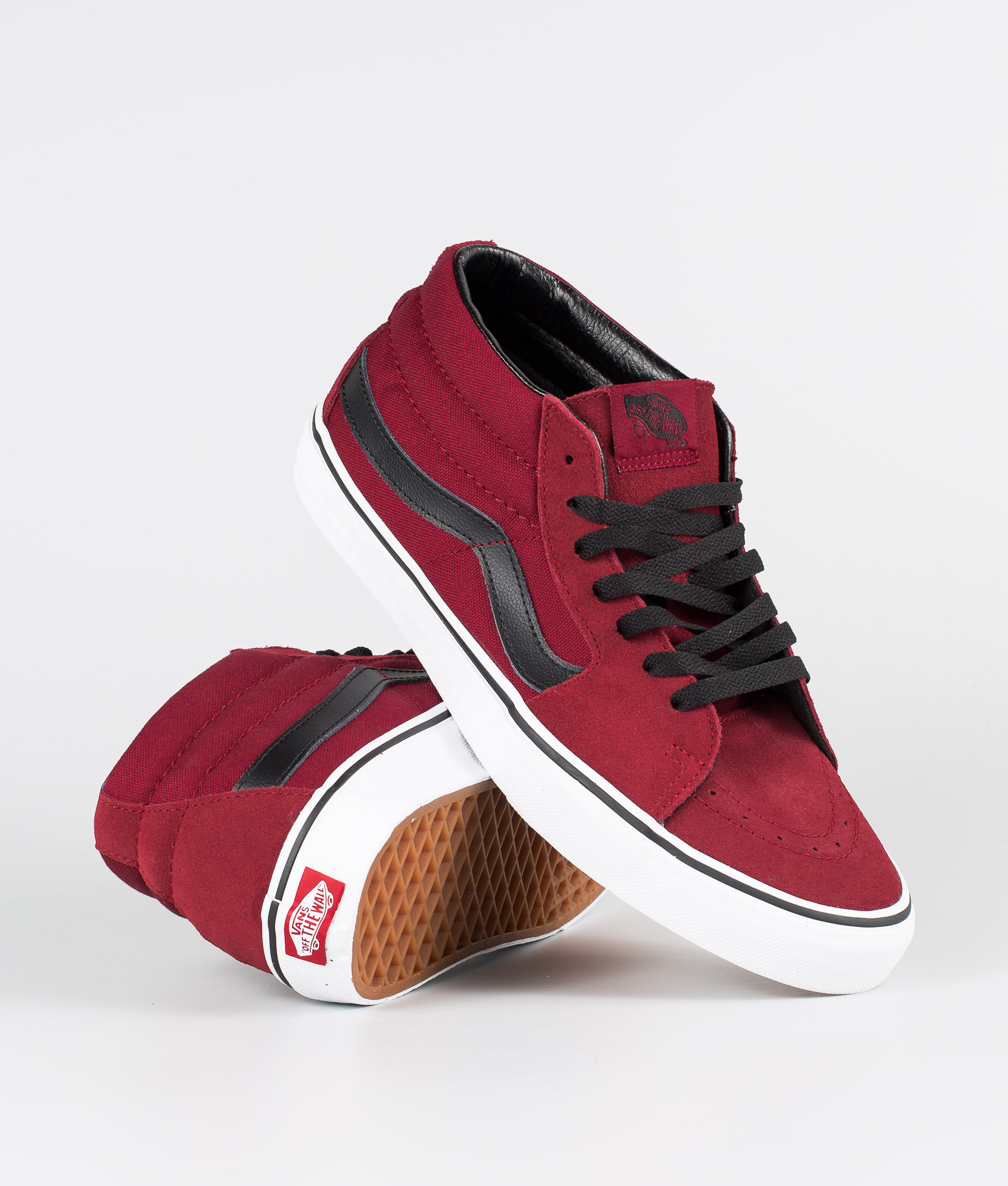 choose authentic for sale top fashion Vans Sk8-Mid Shoes Biking Red/True White