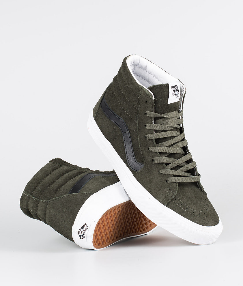 Vans Sk8-Hi Skor (Suede) Forest Night/True White
