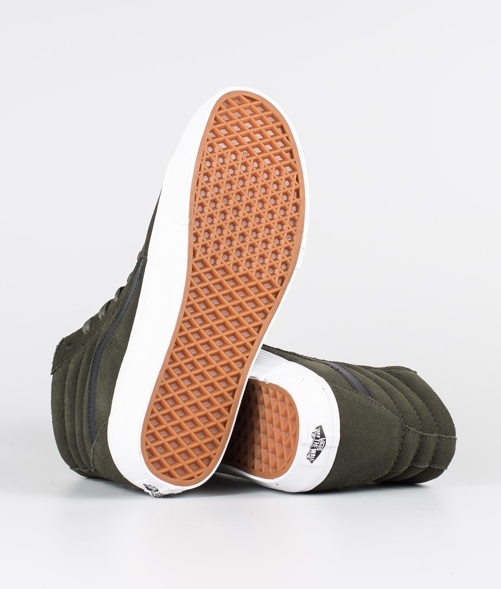 Vans Sk8 Hi Schuhe (Suede) Forest NightTrue White
