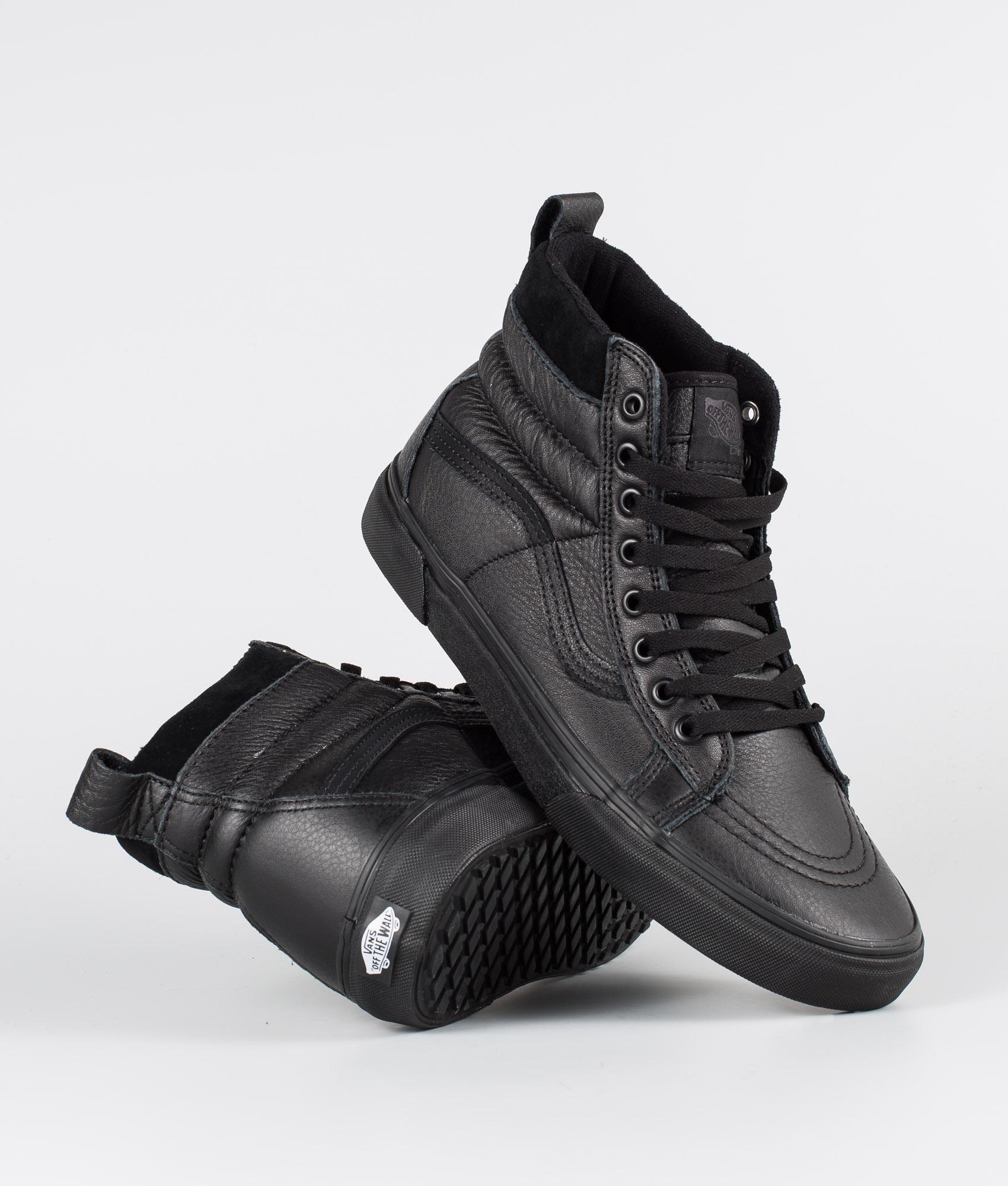 Vans Sk8 Hi MTE Black Leather | Schuhe und Kleidung