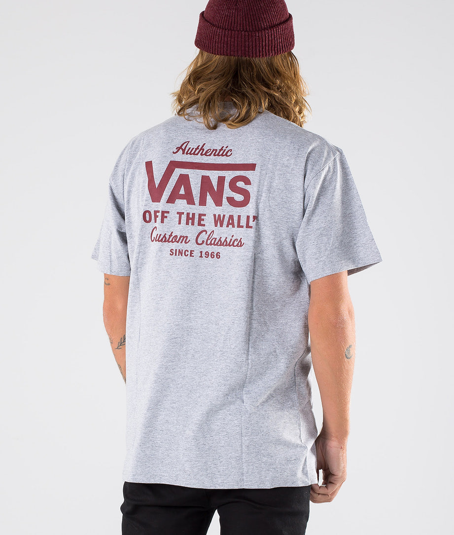 Vans Holder St Classic T-paita Athletic Heather/Biking Red