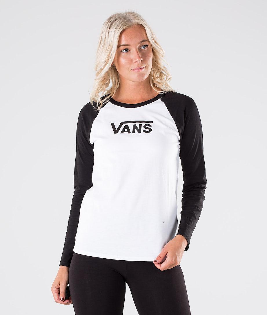 Vans Flying V Classic Ls Raglan Longsleeve White/Black