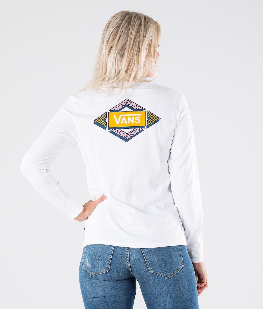 Vans Skewed T-shirt Dame White