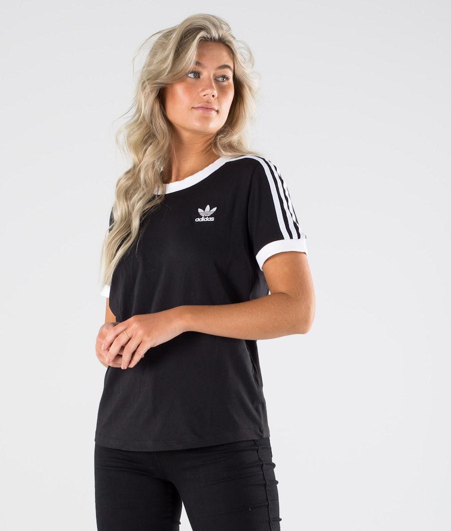 Adidas Originals 3 Stripe Tee          T-Shirt Black