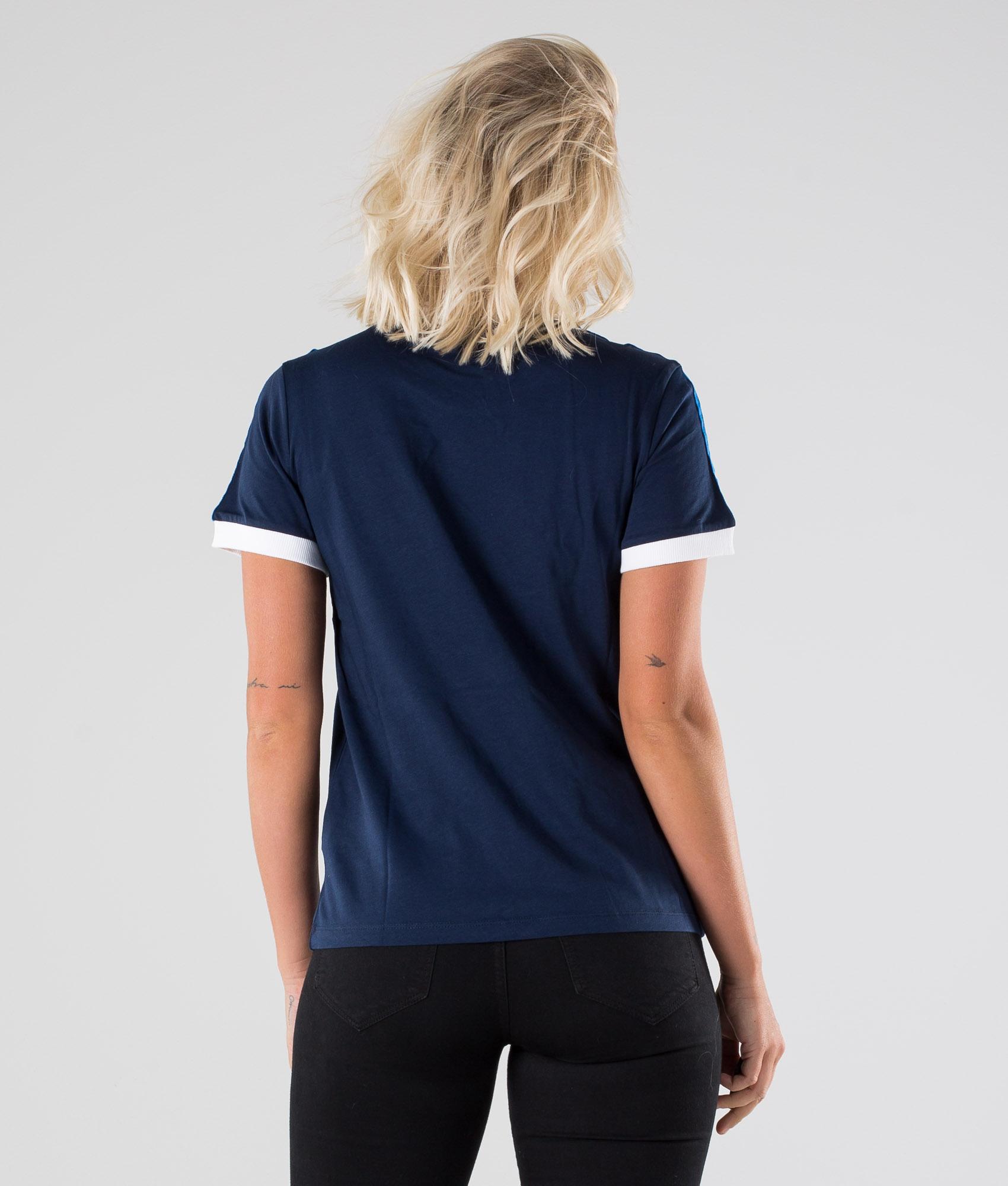 Adidas Originals 3 Stripes T Shirt Collegiate Navy